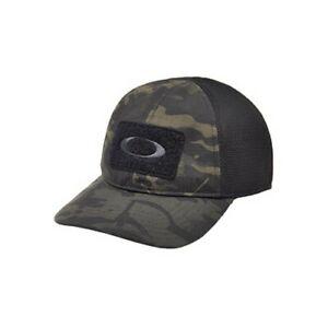 70cef3b7 Details about Oakley 911630A-02L-SM SI Mens S/M Black MultiCam Camo Stretch  Fit Cap Hat