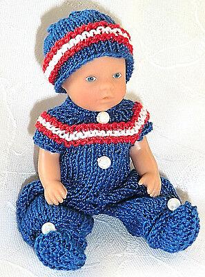 Mini ARI Nostalgie Set 2-tlg Overall  SK,SE Puppen 8-9 cm  Puppenstube