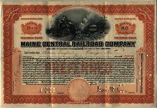 Maine Central Railroad Company Stock Certificate Orange
