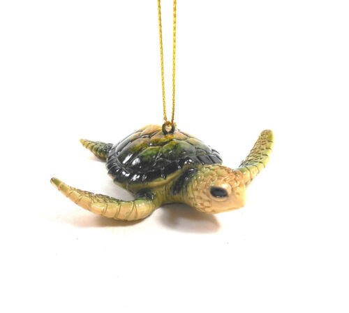 Green Baby Sea Turtle Christmas Ornament by Cape Shore