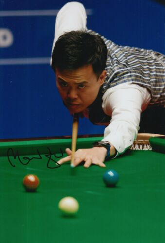 MARCO FU HAND SIGNED 12X8 SNOOKER PHOTO PROOF 4.