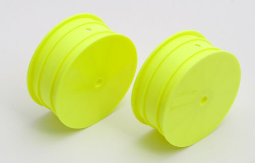 2 Team Associated 9768 9.5mm Hex 2.2 4WD Front Buggy Wheels Yellow B44.2