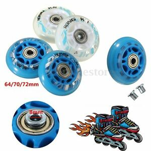PU-Replacement-Skate-Wheel-Skating-Inline-Skate-Shoes-64mm-70mm-72mm-Dia-8mm