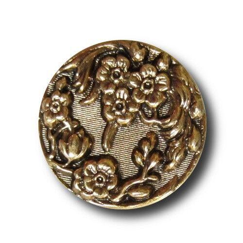 d787ag 2 tamaños 8 hermosas flores botones de metal altgoldfarbenem chapa