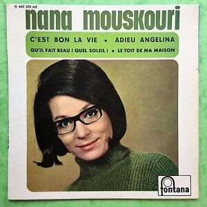 Nana-Mouskouri-C-039-Est-Bon-la-Vie-Fontana-460-209ME-Ex-Condizioni-Jukebox