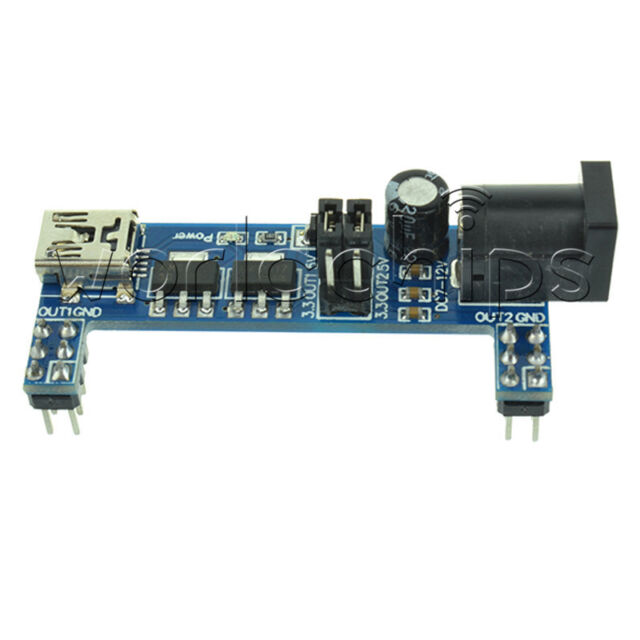 MB102 Breadboard Power Supply Module 3.3V 5V F Solderless Arduino mini usb