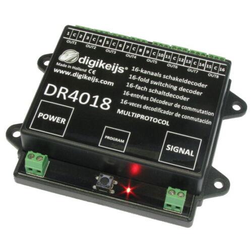 Digikeijs DR4018 16 Fach Multiprotokoll Schaldecoder H0 TT N Weichendecoder