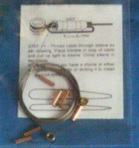 All New Cox 1//2 A Model Airplane Control Line Lead-out Kit