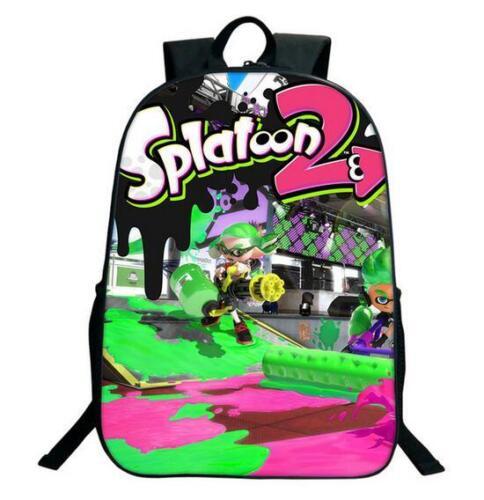 Splatoon 2 Backpack Boy Girl Schoolbag 3D Printed Student Bag Q07