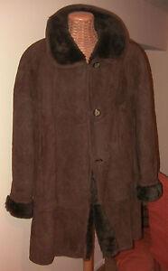 Giaccone-Montone-Sheepskin-Fur-034-SHEARLING-DONNA-034-Con-Pelliccia-Vera-Pelle-Tg-46