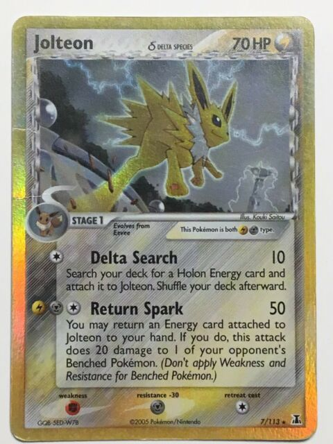Pokemon Delta Species Jolteon (Delta)  7/113  Holo Rare