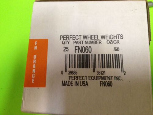 FN60-60 GRAM COATED WHEEL WEIGHTS BY PERFECT-FOR ALLOY WHEELS-25//BOX