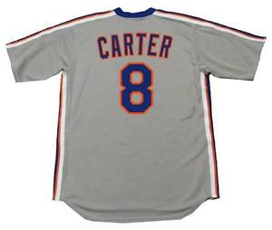 check out 1df28 c7864 Details about GARY CARTER New York Mets 1987 Majestic Cooperstown Away  Baseball Jersey