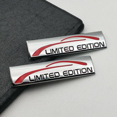 2x Metal Chrome Limited Edition Fender Emblem Trunk Sport Badge Decal Sticker