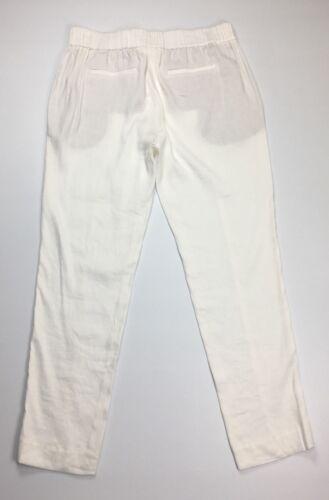 Vince 822508135776 donna in New gamba Pantaloni con lino lino White sottile taglia 10 275 di h428 fSvqwZ0