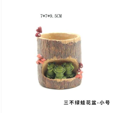 Creative Pastoral Cartoon Cute Succulent Plants Flower Pots Garden Balcony Decor