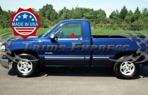 1999-06-Chevy-Silverado-Sierra-Regular-Cab-Chrome-Window-Sill-Trim-Stainless-2Pc