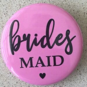 5 pcs x Personalised Badge Button Pin Custom Gift Wedding Birthday Hens Party