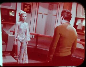 Star-Trek-TOS-35mm-Film-Clip-Slide-Wink-of-an-Eye-Kirk-Deela-Bridge-3-11-18