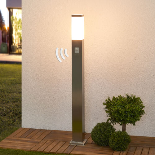 Sensor-Wegelampe Lorian Bewegungsmelder Edelstahl-Wegeleuchte Sensor Eckige Form