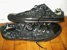 Converse Chuck Taylor Low Top Shoes Very Rare Print Custom Black Sole 11 11.5 12