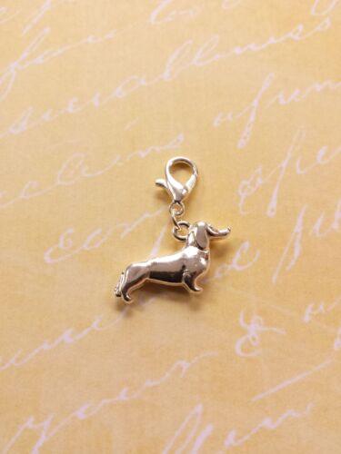 Corgi remolque con mosquetón ♥ perro amigo ♥ joyas bricolaje decorativas Charms plata