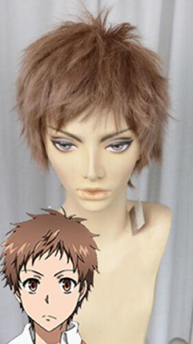 SERVAMP Kuro Shirota Mahiru Cosplay Perücke Wig Kurz Short Braun brown