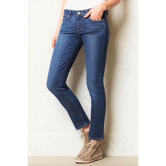 Paige Premium Denim Skyline Ankle Peg Skinny Straight Jean in Mila - Size 28