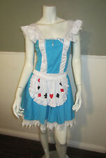 Story Book Alice In Wonderland  Costume  Dress Up Halloween Cosplay Size S