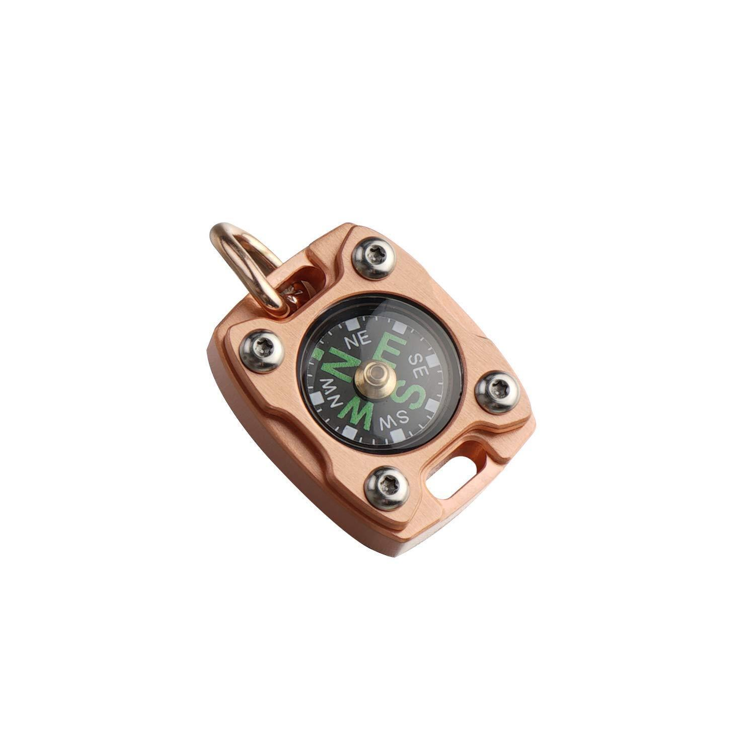 MecArmy CMP2, Copper, EDC Compass, With Fluorescence Glow and Beaded Chain
