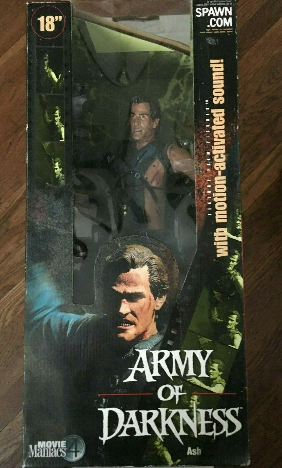 Movie Maniacs 4 Army Of Darkness  Ash  18  Action Figure 2001