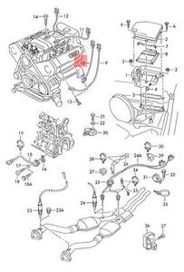 genuine knock sensor with wiring harness blue audi vw a4 s4 rh ebay com 2009 Audi A4 Owner's Manual Audi A4 Manual Transmission