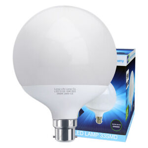 Details about LED Globe Light Bulb 18W B22 Replacement for 162w Warm White  Energy Saving G120