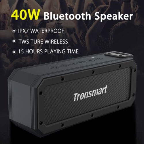 Transmart 40W 6600mAh TWS Wireless bluetooth Stereo Speaker IPX7 Waterproof NFC