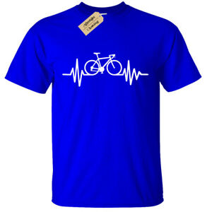 BIKE-PULSE-T-SHIRT-Mens-Tee-Cycling-Bicycle-Riding-Doctor-birthday-Medic-gift