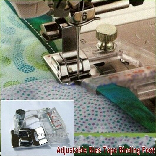 Snap On Adjustable Bias Tape Binding Foot For Brother Janome Singer NEW