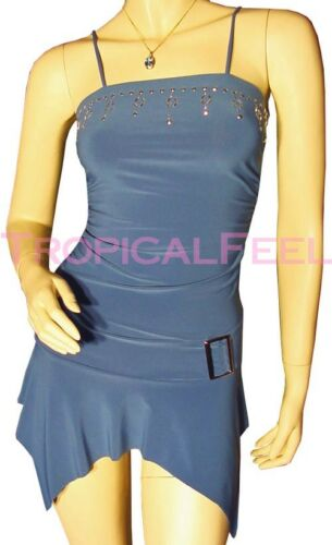 Blue Tops Sleeveless Womens Teal Top Spaghetti Studs Blouse Embellished New Long C8vxdq5nd