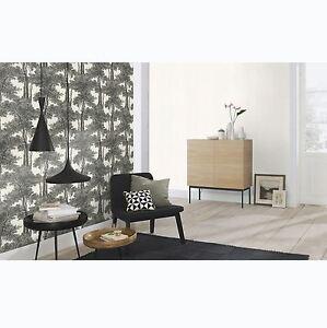 Passepartout-Arbres-Papier-Peint-Noir-Blanc-Rasch-605419