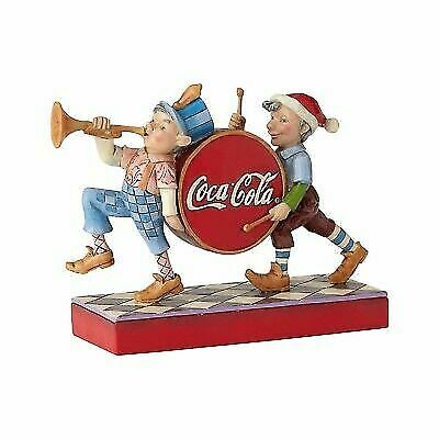 Coca-Cola by Jim Shore Coca Cola Elf Marching Band 6000999 NEW Christmas Drum