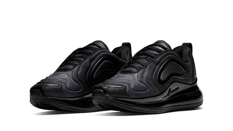 NIKE AIR MAX 720 UNISEX TRAINERS, UK10 TOTAL ECLIPSE BLACK ANTHRACITE, AO2924004