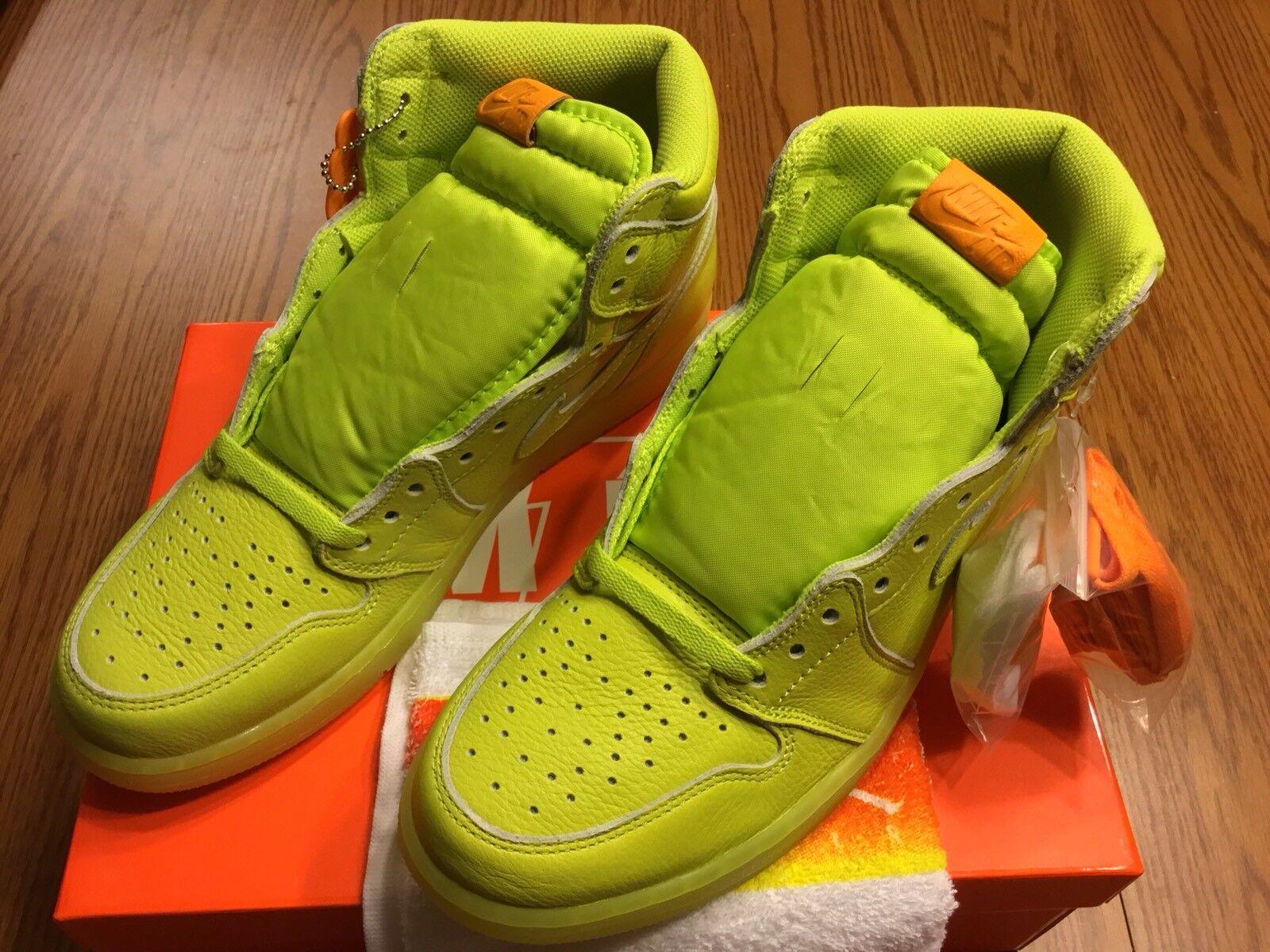 Air Jordan 1 Retro High Gatorade Sz 10.5 Cyber Lemon Lemon Lime AJ5997-345