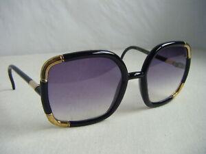 a12ef4d18e4 TED LAPITUS Vtg 60s Designer Black Gold Retro France Made Sunglasses ...