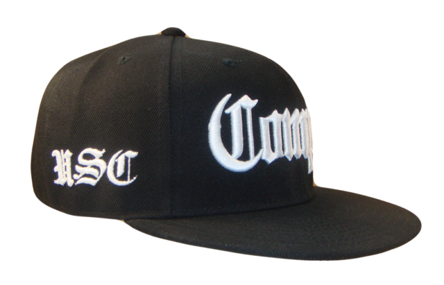 Black White Compton USC Los Angeles Flat Bill Retro Snapback Cap Caps Hat  Hats 427d8a8fdb3