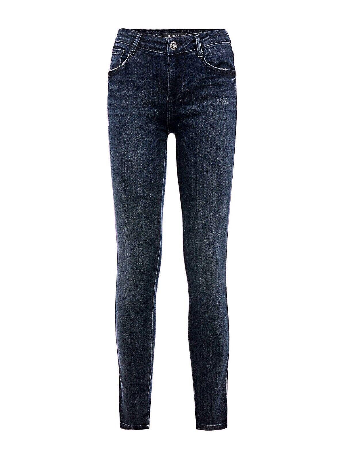 GUESS Damen Jeans ANNETTE Skinny Dunkelblau