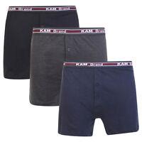 Mens 3 Pack Boxer Shorts 100% Combed Cotton Underwear Classic S M L XL XXL