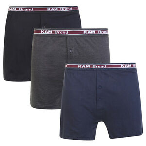 Mens-3-or-6-Boxer-Shorts-100-Combed-Cotton-Underwear-Classic-S-M-L-XL-XXL