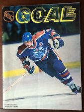 1988 Goal Magazine Program Wayne Gretzky Oilers  Super Rare