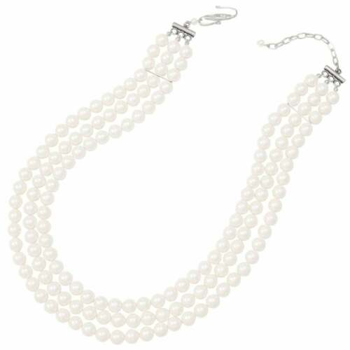 Regal Three Strand White Shell Pearl Necklace