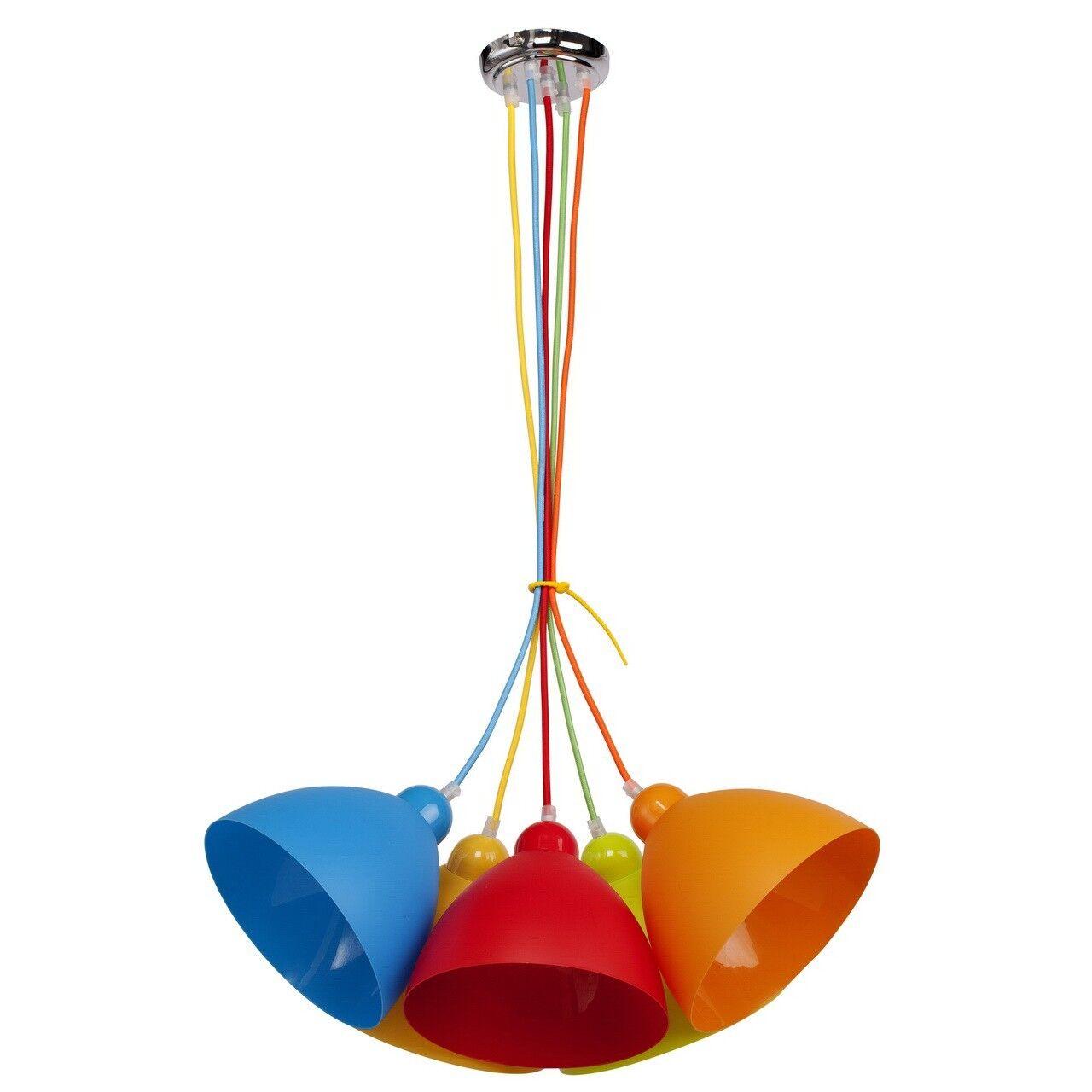 Farbeful pendant ceiling light kids room multicolour acrylic metal 540W E27