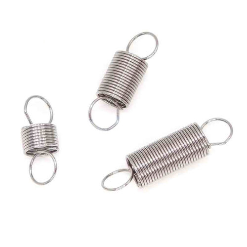 5pcs Stainless Steel Expansion Extension Springs Wire Dia 0.3mm Hook Loop Ends